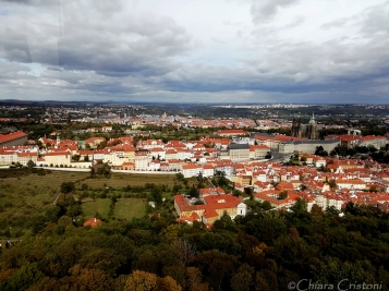 View of Prague from Petřín hill