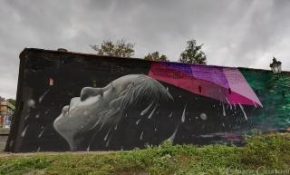 Elsewhere in Malá Strana...a much better graffiti!