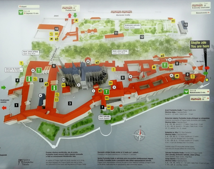The Prague Castle map