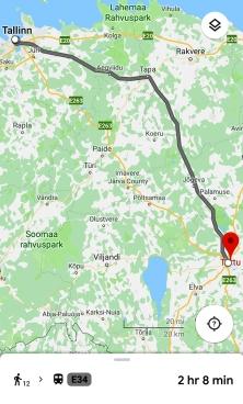 The route Tallinn-Tartu