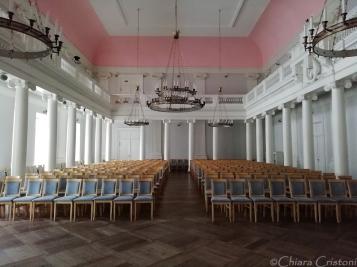 Inside the main University building